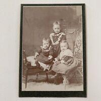 Antique Cabinet Card Group Studio Photo Adorable Children Girl Boy Randolph NY