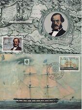 Jugoslawien Nr. 1919-20  Maximumkarten  Europa Segelschiff und Ivo Visin