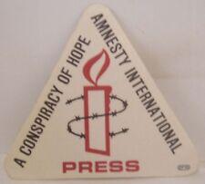 U2 - Original Amnesty International 1986 Concert Cloth Backstage Pass *Last One*