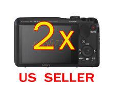 2x Sony CyberShot DSC-HX30V Clear LCD Screen Protector Guard Shield Film