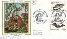 1986**ENVELOPPE SOIE**FDC 1°JOUR!!**EUROPA-LA GENETTE**TIMBRE Y/T 2416-2417