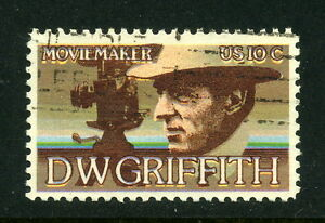 1975 US SC 1555 D.W. Griffith - Used, Print Registration Alignment Error
