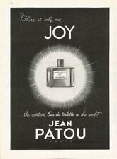 1959 JOY by Jean Patou Perfume PRINT AD