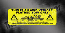 Mitsubishi Lancer EVO Tow Warning Decals CT9A and CZ4A (2001-present)