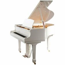 "Steinhoven SG148 Grand Piano, Polished White (148cm, 4'9"") - FREE DELIVERY"