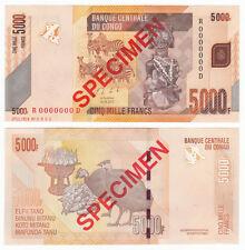 CONGO D.R. 5000 Francs SPECIMEN 2013 P-102s UNC Uncirculated
