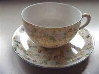 Vintage TRICO Nagoya Japan 4 cups 4 saucers hand painted floral VG+++