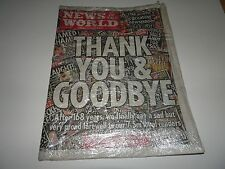 News of the World final newspaper edition, excellent condition