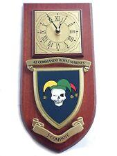 42 Commando Royal Marines J Company Military Shield Wall Plaque Clock