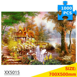 1000 Pcs Jigsaw Puzzles Swan House for Adult Kids Puzzle Home Decor Toys Games
