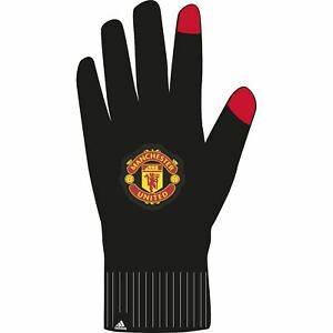 Adidas Manchester United Knit Gloves - Black/Red