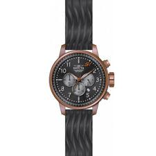 Invicta 23818 Men's Chrono Black Silicone Strap Black Dial Watch