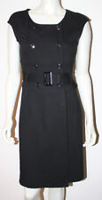 BANANA REPUBLIC Black Double Breasted Belted Dress 6
