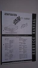 New listing Aiwa ct-x95m service manual original repair book stereo car radio