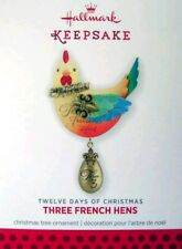 Hallmark Twelve Days Christmas 2013 Three 3 French Hens Ornament New In Box