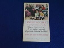 Postcard ~ Headline The Church in Your Plans for Next Sunday ~ Stamp ~ UNUSED