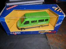 CORGI DIECAST GREEN 073 JOHN RADCLIFFE  1/43 SCALE MODEL FORD TRANSIT BUS IN BOX
