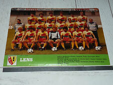 CLIPPING POSTER FOOTBALL 1982-1983 RC LENS RCL BOLLAERT SANG & OR