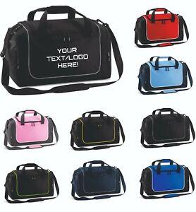Personalised Sports Bags, Printed Gym / Locker bags. By Quadra 47 x 30 x 27cms