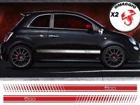 FASCE ADESIVE FIAT 500 ABARTH adesivi fasce LATERALI strisce per auto OMAGGIO