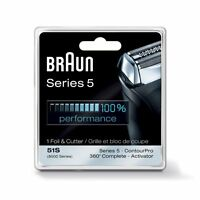 Braun Series 5 Combi 51s Foil Cutter Replacement Pack Formerly 8000 360 Complete