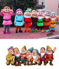 Xmas Seven Dwarfs Mascot Costumes Outfit from the Snow White cosplay Fancy Dress