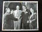 "Dwight D Eisenhower & Mamie with 3 men 8"" x 10"" B+W Photograph"