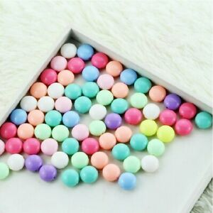 2017 Mixed Spring Colors 16/18mm Acrylic Flat Round Loose Beads Ice Cream Candy