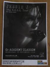 Jessie J live music memorabilia - Glasgow nov.2018 show tour concert gig poster