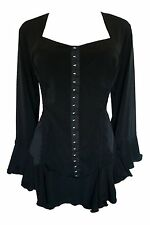 CORSETTA Gothic Victorian Corset Top BLACK Size Jr Size S - MSRP $70