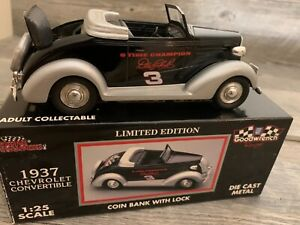DALE EARNHARDT #3 GOODWRENCH 1:25 1937 Chevrolet Convertible Coin Bank NEW