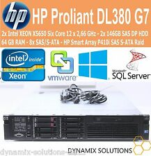 HP ProLiant dl380 g7 2x Xeon x5650 6x 2,66 GHz 64gb RAM p410 RAID VMware Server