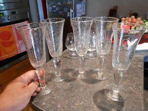 4+1 Verres à Vin Flute au Bulles d'Air de Dégustation Style Biot
