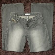 RIPCURL Jeans Women's Grey, Mid Rise, Regular Fit, Wide Leg, Size 10 'The Search