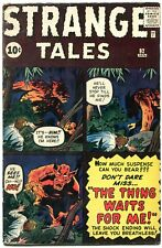 Strange Tales #92 1962- Kirby- Ditko- Flying Saucer story VG