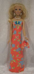 """Made to fit 16"""" ALEX Madame Alexander  #34 Dress, Purse, Necklace & Earrings set"""