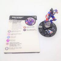 Heroclix Avengers Infinity set Iron Patriot (Toni Ho) #034 Rare figure w/card!