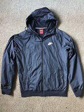 Nike Mens Black Hooded Windbreaker - Size S