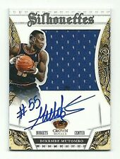 Dikembe Mutombo 2013-14 Preferred Crown Royale Silhouettes Patch Auto 28/35