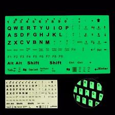 English Keyboard Fluorescent Sticker Large Black Letters for Computer Laptop PC