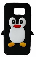 Black Silicone Penguin Phone Case / Cover for Samsung Galaxy S6