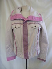 "Ladies Coat - Diesel, size L, (40"" bust), pinks, cotton, raw edges, marks - 0568"