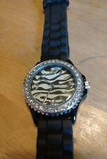 Vintage Geneva Zebra Pattern Gemmed 5573 watch, running with new battery NR B