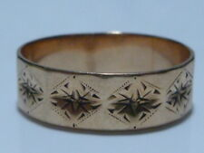 VICTORIAN ESTATE 10K YELLOW GOLD WEDDING ENGAGEMENT RING BAND SIZE 9.5