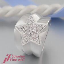 CHRIST Ring 'Stern' mit Brillanten (Diamant) ges. ca. 1,00ct - 14K/585 Weißgold