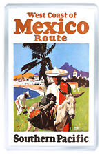 WEST COAST OF MEXICO VINTAGE REPRO FRIDGE MAGNET SOUVENIR IMAN NEVERA