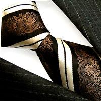 84184 LORENZO CANA Handmade Baroque Striped Silk Neck Tie Italian Tradition