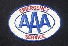 "AAA EMERGENCY SERVICE LARGE SEW ON ONLY BACK PATCH AUTO CLUB 6 1/2"" x 4 1/2"""
