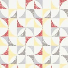 Graphic Geometric Wallpaper White Red Paste The Wall Textured Vinyl Erismann