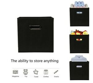 3 x Heavy Duty Foldable Storage Boxes Collapsible Home Clothes Organizer Cube